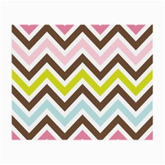 Chevrons Stripes Colors Background Small Glasses Cloth (2 Side) by Amaryn4rt