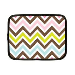 Chevrons Stripes Colors Background Netbook Case (small)  by Amaryn4rt