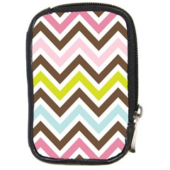 Chevrons Stripes Colors Background Compact Camera Cases by Amaryn4rt