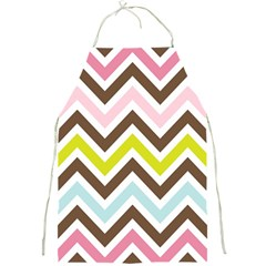 Chevrons Stripes Colors Background Full Print Aprons by Amaryn4rt