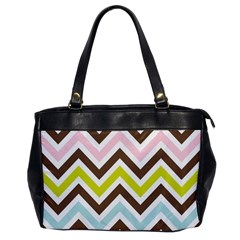 Chevrons Stripes Colors Background Office Handbags by Amaryn4rt