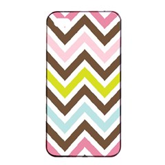 Chevrons Stripes Colors Background Apple Iphone 4/4s Seamless Case (black) by Amaryn4rt