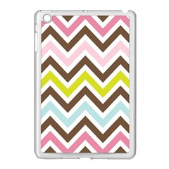 Chevrons Stripes Colors Background Apple Ipad Mini Case (white) by Amaryn4rt