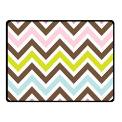Chevrons Stripes Colors Background Double Sided Fleece Blanket (small)  by Amaryn4rt