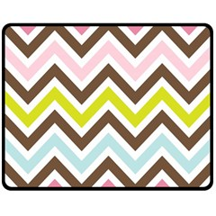Chevrons Stripes Colors Background Double Sided Fleece Blanket (medium)  by Amaryn4rt
