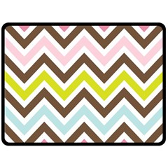 Chevrons Stripes Colors Background Double Sided Fleece Blanket (large)  by Amaryn4rt