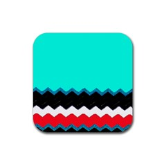 Pattern Digital Painting Lines Art Rubber Square Coaster (4 Pack)  by Amaryn4rt