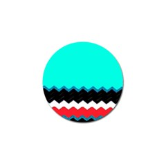 Pattern Digital Painting Lines Art Golf Ball Marker (10 Pack) by Amaryn4rt