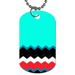 Pattern Digital Painting Lines Art Dog Tag (two Sides) by Amaryn4rt
