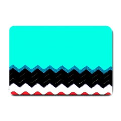 Pattern Digital Painting Lines Art Small Doormat  by Amaryn4rt