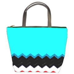 Pattern Digital Painting Lines Art Bucket Bags by Amaryn4rt