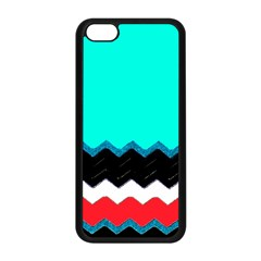 Pattern Digital Painting Lines Art Apple Iphone 5c Seamless Case (black) by Amaryn4rt