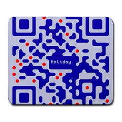 Digital Computer Graphic Qr Code Is Encrypted With The Inscription Large Mousepads by Amaryn4rt
