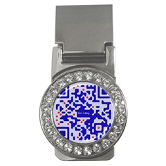 Digital Computer Graphic Qr Code Is Encrypted With The Inscription Money Clips (cz)  by Amaryn4rt