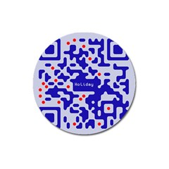 Digital Computer Graphic Qr Code Is Encrypted With The Inscription Magnet 3  (round) by Amaryn4rt
