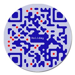 Digital Computer Graphic Qr Code Is Encrypted With The Inscription Magnet 5  (round) by Amaryn4rt