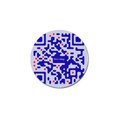 Digital Computer Graphic Qr Code Is Encrypted With The Inscription Golf Ball Marker (4 Pack) by Amaryn4rt