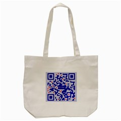 Digital Computer Graphic Qr Code Is Encrypted With The Inscription Tote Bag (cream) by Amaryn4rt