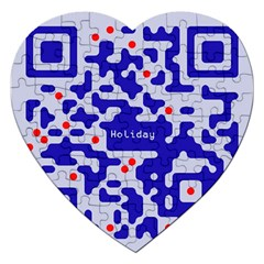 Digital Computer Graphic Qr Code Is Encrypted With The Inscription Jigsaw Puzzle (heart) by Amaryn4rt