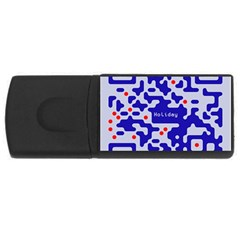 Digital Computer Graphic Qr Code Is Encrypted With The Inscription Usb Flash Drive Rectangular (4 Gb) by Amaryn4rt