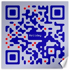 Digital Computer Graphic Qr Code Is Encrypted With The Inscription Canvas 16  X 16   by Amaryn4rt