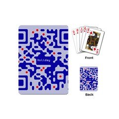 Digital Computer Graphic Qr Code Is Encrypted With The Inscription Playing Cards (mini)  by Amaryn4rt