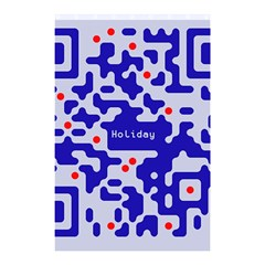 Digital Computer Graphic Qr Code Is Encrypted With The Inscription Shower Curtain 48  X 72  (small)  by Amaryn4rt
