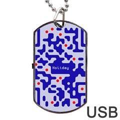 Digital Computer Graphic Qr Code Is Encrypted With The Inscription Dog Tag Usb Flash (one Side) by Amaryn4rt