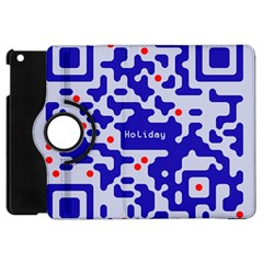 Digital Computer Graphic Qr Code Is Encrypted With The Inscription Apple Ipad Mini Flip 360 Case by Amaryn4rt