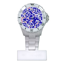 Digital Computer Graphic Qr Code Is Encrypted With The Inscription Plastic Nurses Watch by Amaryn4rt