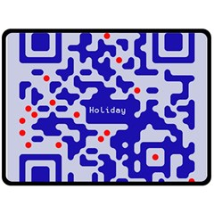 Digital Computer Graphic Qr Code Is Encrypted With The Inscription Double Sided Fleece Blanket (large)  by Amaryn4rt