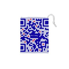 Digital Computer Graphic Qr Code Is Encrypted With The Inscription Drawstring Pouches (xs)  by Amaryn4rt