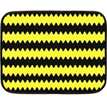 Yellow Black Chevron Wave Fleece Blanket (Mini) 35 x27 Blanket