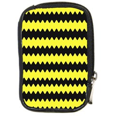 Yellow Black Chevron Wave Compact Camera Cases by Amaryn4rt
