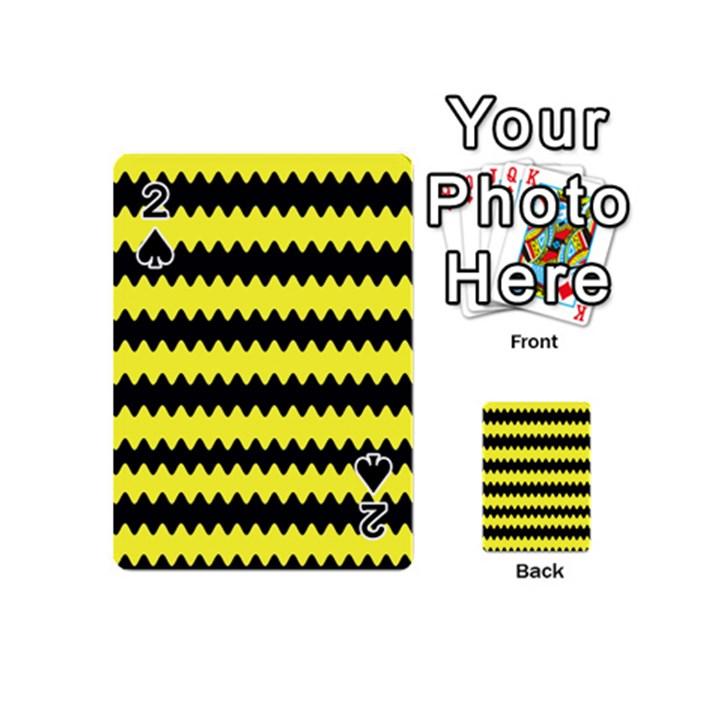 Yellow Black Chevron Wave Playing Cards 54 (Mini)