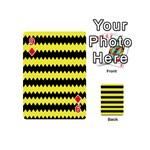 Yellow Black Chevron Wave Playing Cards 54 (Mini)  Front - Diamond9