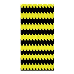 Yellow Black Chevron Wave Shower Curtain 36  X 72  (stall)  by Amaryn4rt