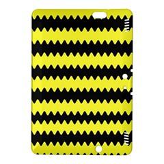 Yellow Black Chevron Wave Kindle Fire Hdx 8 9  Hardshell Case by Amaryn4rt