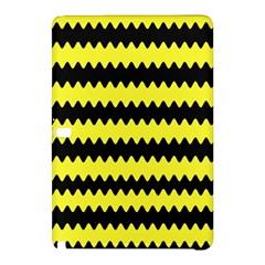 Yellow Black Chevron Wave Samsung Galaxy Tab Pro 12 2 Hardshell Case by Amaryn4rt