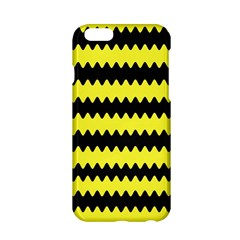 Yellow Black Chevron Wave Apple Iphone 6/6s Hardshell Case by Amaryn4rt