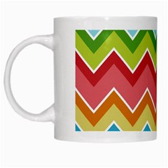 Colorful Background Of Chevrons Zigzag Pattern White Mugs by Amaryn4rt