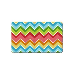 Colorful Background Of Chevrons Zigzag Pattern Magnet (name Card) by Amaryn4rt