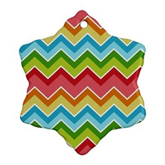 Colorful Background Of Chevrons Zigzag Pattern Ornament (snowflake) by Amaryn4rt