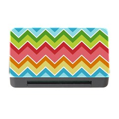 Colorful Background Of Chevrons Zigzag Pattern Memory Card Reader With Cf by Amaryn4rt