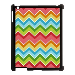 Colorful Background Of Chevrons Zigzag Pattern Apple Ipad 3/4 Case (black) by Amaryn4rt
