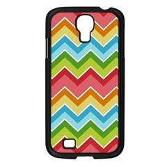 Colorful Background Of Chevrons Zigzag Pattern Samsung Galaxy S4 I9500/ I9505 Case (black) by Amaryn4rt