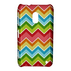 Colorful Background Of Chevrons Zigzag Pattern Nokia Lumia 620 by Amaryn4rt