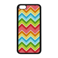 Colorful Background Of Chevrons Zigzag Pattern Apple Iphone 5c Seamless Case (black) by Amaryn4rt
