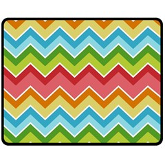 Colorful Background Of Chevrons Zigzag Pattern Double Sided Fleece Blanket (medium)  by Amaryn4rt