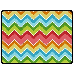Colorful Background Of Chevrons Zigzag Pattern Double Sided Fleece Blanket (large)  by Amaryn4rt